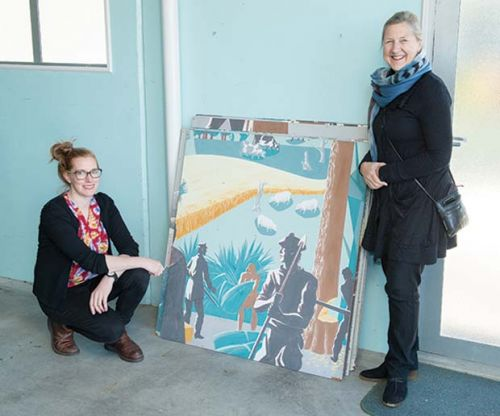Missing two-storey mural by E Mervyn Taylor discovered in Wairoa