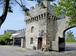 Holidaymakers can now stay in a romantic tower that overlooks a castle