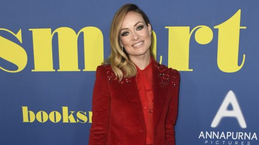Olivia Wilde's Red Corduroy Suit Is Monochrome at Its Best