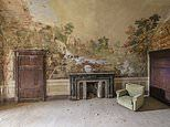 Romain Veillon photographs frescoes adorning the walls of abandoned grand houses across Europe