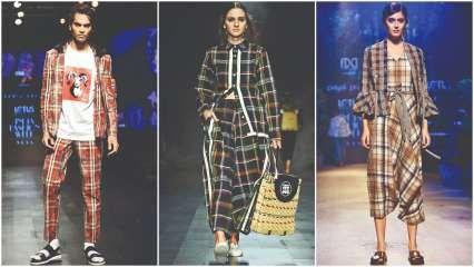Check mate: The recently concluded fashion week saw tartan ruling the runways