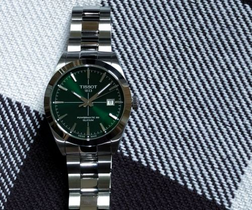 Tissot Gentleman Powermatic 80 Silicium: Green Burst