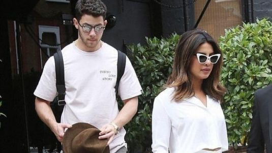 Lovebirds Priyanka Chopra and Nick Jonas step out twinning in white