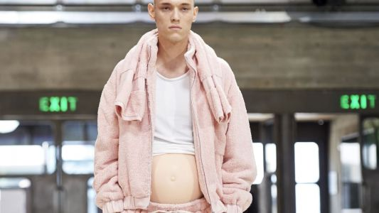 The Pregnant Models on the Runway 'Trend' Has Expanded to Menswear