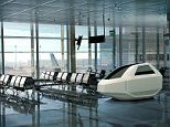 Air-conditioned capsule allows travellers to catch up on sleep at an airport's BOARDING GATE