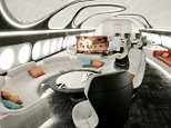 The stunning private jet cabin by Airbus that features a master bedroom, office, bathroom and lounge