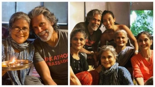 Milind Soman shares glimpses from Raksha Bandhan celebrations with family