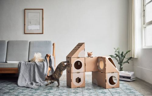 If you've got a cat, you need to buy them this cardboard city