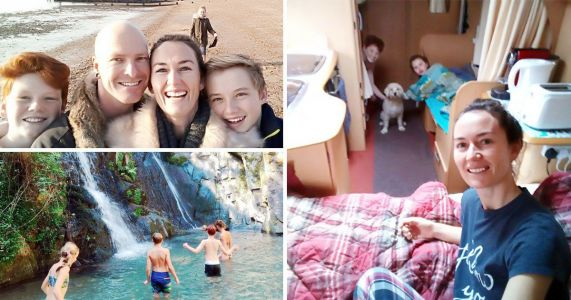 Family of five move into one bedroom caravan to travel the world