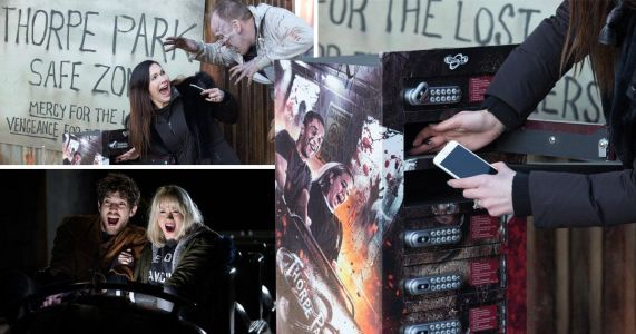 Thorpe Park's Walking Dead rollercoasters let you charge your phones with your screams