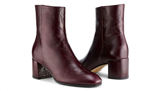The '60s-Style Patent Ankle Boots That Will Punch Up Maura's Fall Wardrobe