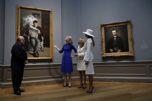 First ladies tour National Gallery of Art's Cézanne exhibit