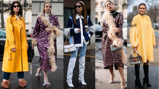 Showgoers Wore Feathers - Yes, Feathers - on Day 8 of Paris Fashion Week