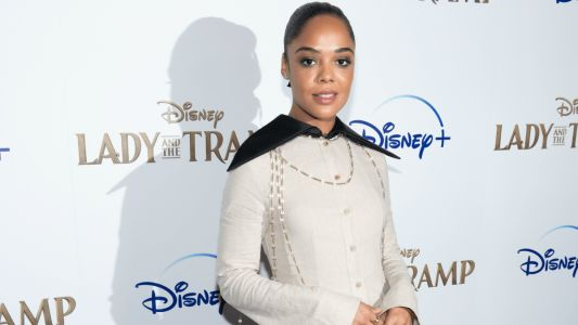 Tessa Thompson Wore a Ladylike Pantsuit at the Disney+ Screening of 'Lady and the Tramp'