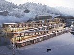 A little piste of hotel heaven: The luxury zig-zag Swiss lodge that has a SKI SLOPE on its roof
