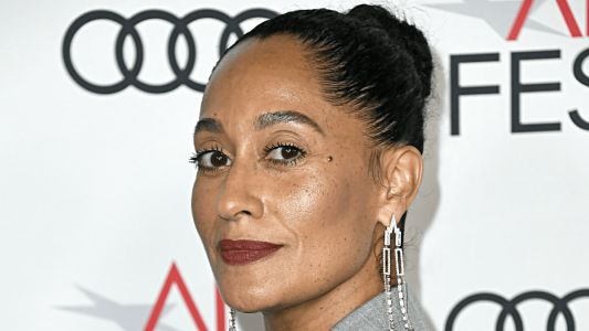 Tracee Ellis Ross Plays Peek-a-Boo in a Bedazzled Cut-Out Dress