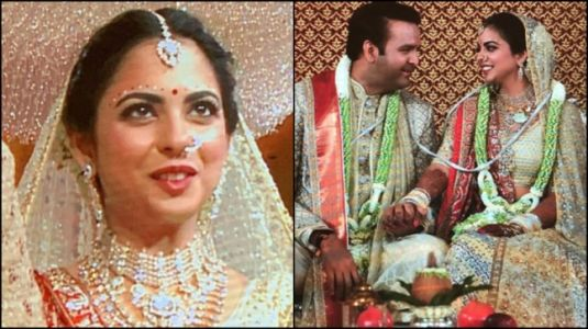 What just-married Isha Ambani and Anand Piramal wore on wedding day