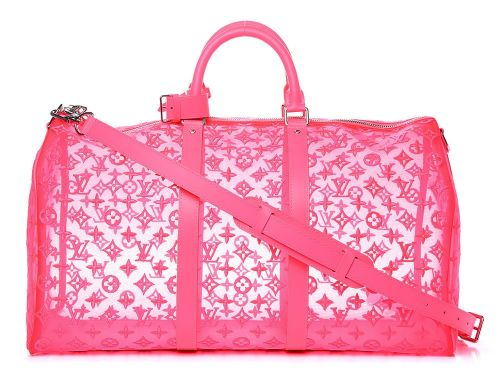 Bag of the Week: Louis Vuitton Monogram See-Through Keepall Bandouliere 50 Rose Fluo