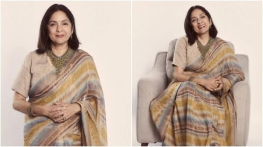 Neena Gupta in Rs 18k printed saree is the epitome of elegance for photoshoot. See pics