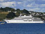 Now a £200million superyacht joins the staycation crowds in Cornwall