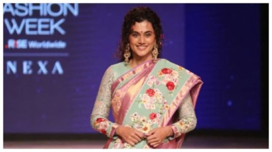 Taapsee Pannu turns showstopper for Gaurang Shah at Lakme Fashion Week 2021 Day 3. Pics and videos