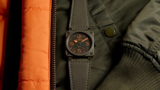 Bell & Ross elevates its pilot's watch with cues from the iconic MA-1 bomber jacket