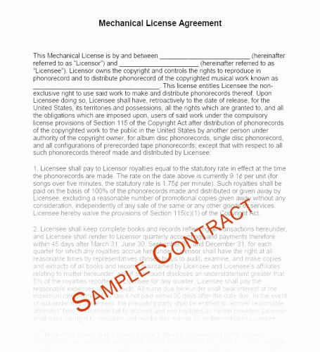 30 Fresh Recording Artist Contract Template Graphics