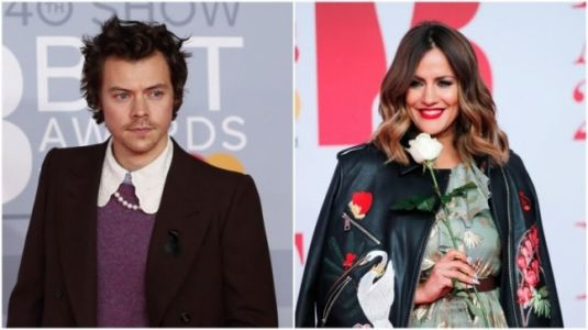 Harry Styles pays tribute to ex-girlfriend Caroline Flack at Brit Awards after her death