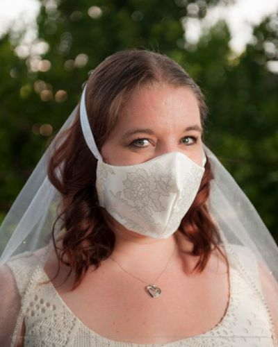 These Bridal Face Masks Are Actually Gorgeous Wedding Day Accessories