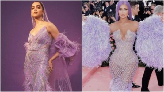 Deepika Padukone or Kylie Jenner: Who wore the sheer feathered lavender dress better?