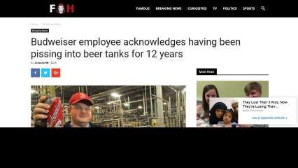 Viral 'report' claims Budweiser employee has been pissing into beer tanks for 12 years, here is the fact check
