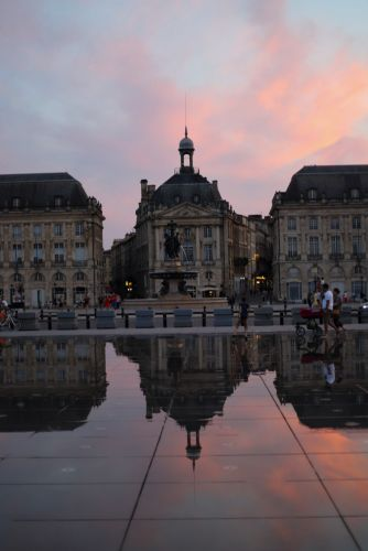 Sunset Hour in Bordeaux, France