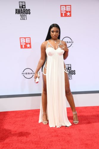 Meg Thee Stallion's Sexy BET Awards Look Showed Off Legs For Days