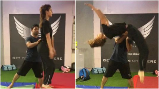 Disha Patani perfectly nails a backflip in new workout video. Tiger Shroff can't get over it