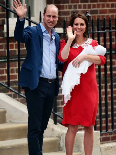 Prince William And Kate Middleton Beam As They Leave The Hospital With The Royal Baby