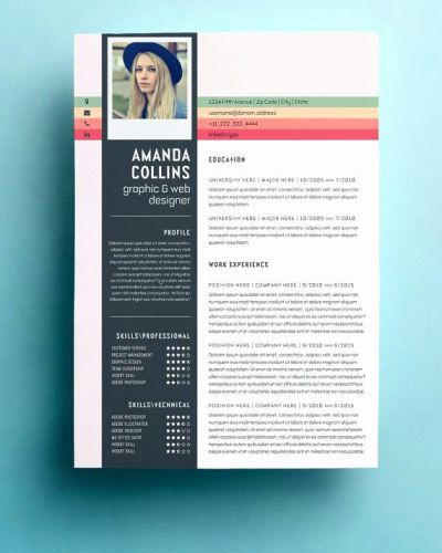 30 Awesome Modern Resume Word Template Pics