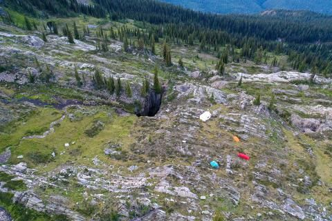 Searching for new caves in West Kootenay, B.C