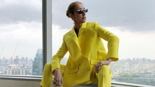 Céline Dion Continues to Be Iconic in Brightly Colored Suits