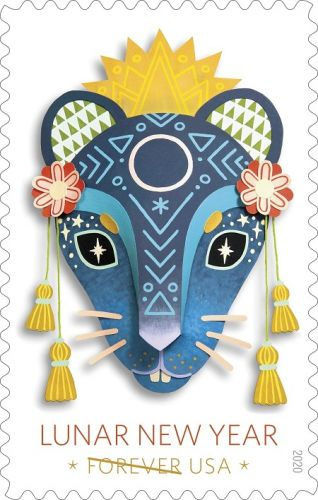 Lunar New Year with Year of the Rat Forever Stamp