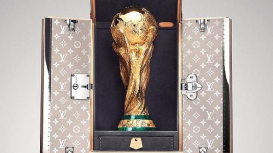 The FIFA World Cup has its own Louis Vuitton case and 2 bodyguards