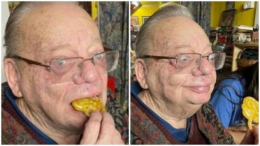Ruskin Bond enjoys fresh jalebis on a rainy day in Mussoorie. See new post