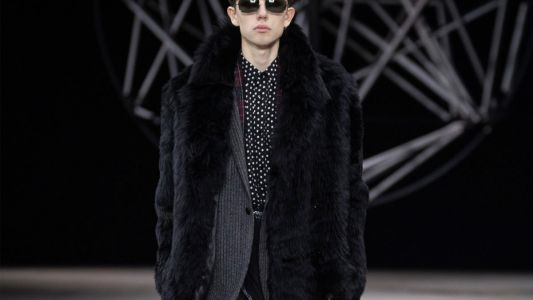 Hedi Slimane closes Paris fashion week with an inaugural menswear collection for Celine