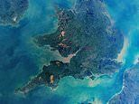 Stunningly clear aerial image of the UK taken by NASA astronauts