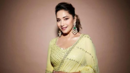 Madhuri Dixit aces Eid look in a gorgeous yellow lehenga. See pic