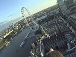 Camera attached to a sea eagle launched from the London Eye captures amazing footage of the capital