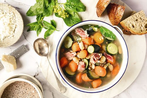 Recipe: Michael Van de Elzen's Pulled Ham Hock Soup with White Beans