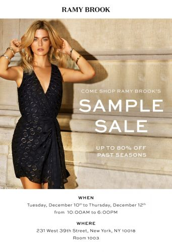 RAMY BROOK Sample Sale, 12/10 - 12/12, NYC