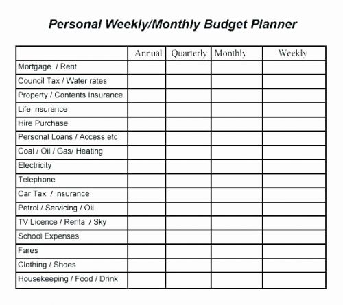 30 Inspirational Simple Monthly Budget Template Images