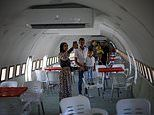 The Boeing 707 in the West Bank that's been converted into a restaurant