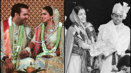 Isha and Anand bring back Mukesh Ambani and Nita wedding day. Rare pics from 1985